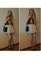 H&M skirt - new look shirt - vintage bag
