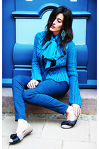 blue Iris Von Arnim cardigan - camel lanvin flats