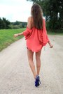 Salmon-haute-hippie-shirt-blue-nellycom-shoes