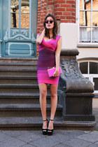 bubble gum herve leger dress - hot pink Sara Battaglia bag