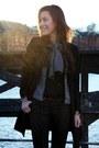 Black-hallhuber-coat-gray-hallhuber-jeans