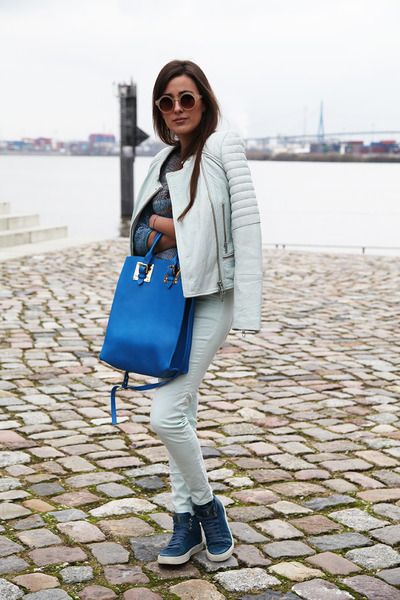 blue Yves Saint Laurent shoes - light blue Closed jacket - blue Sophie Hulme bag