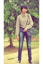 Blue way shirt - Kappa shoes - Lea jeans