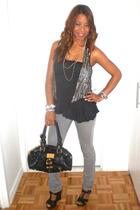 yaya vest - Topshop blouse - J Brand jeans - Chloe shoes - Chloe purse - Noir ne