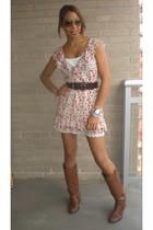 Zara dress - BCBGgirls belt - Zara boots