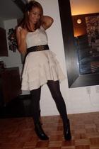 H&M dress - Mango belt - H&M boots
