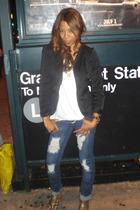 Zara shirt - jeans - shoes - The Row blazer - Noir necklace