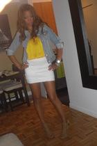 H&M shirt - Gap jacket - Arden B skirt - shoes