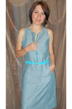 turquoise blue Self Made dress