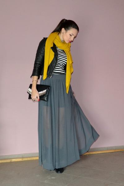 yellow Zara scarf