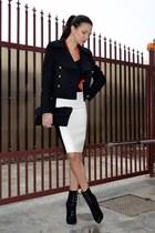 black Versace for H&M boots - black Zara jacket - black Julien Macdonald bag