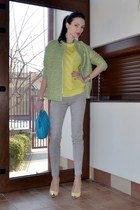 chartreuse H&M jacket - yellow zar sweater