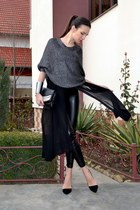 black H&M leggings - silver Mango cape