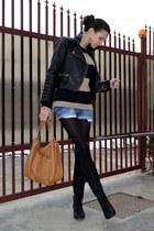black asos boots - bronze Michael Kors bag