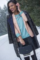 checkered coat H&M coat