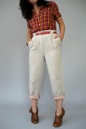 orange Naked Vintage shirt - beige Naked Vintage pants - brown Jeffrey Campbell