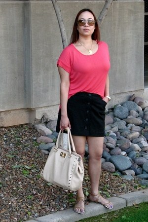 Tea n Rose top - Aldo bag - brown Prada sunglasses - Enzo Angiolini sandals
