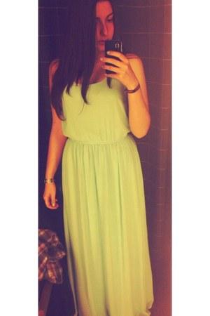 light blue polyester pull&bear dress