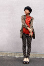 Olive-green-zara-jacket-carrot-orange-from-japan-top