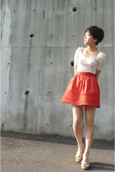 Zara top - orange H&M skirt