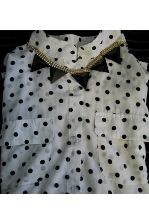 foymall shirt - PERSUNMALL necklace