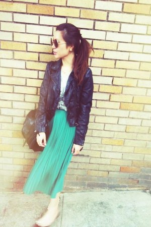 H& jacket - Topshop skirt