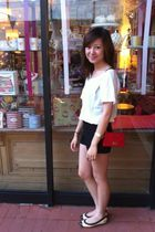 Forever 21 top - American Apperel shorts - Chanel shoes - Fendi bag