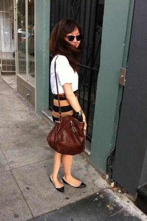 Forever 21 skirt - Chloe bag - Valentino flats