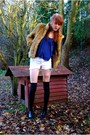 Beige-h-m-divided-coat-blue-topshop-top-silver-diy-sparkz-shorts-diy-h-m-s