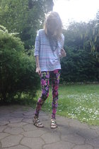 GINA TRICOT necklace - GINA TRICOT shirt - Urban Outfitters leggings - Urban Out