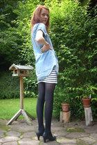 Zara shirt - H&M tights - GINA TRICOT skirt - 2ndhand shoes