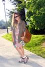 Olive-green-parka-new-look-jacket-nude-floral-dress-h-m-dress