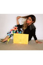 Neon-zara-heels-forever-21-sweater-asos-bag-floral-print-h-m-pants