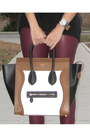 Black-h-m-sweater-white-mini-luggage-celine-bag