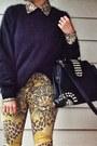 Leopard-print-topshop-jeans-h-m-sweater-romwe-blouse-charlotte-russe-heels