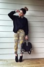 Leopard-print-topshop-jeans-h-m-sweater-romwe-blouse-charlotte-russe-heels