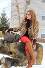 Light-brown-justfab-boots-nude-faux-fur-jacket-vintage-jacket