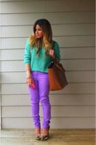 off white snake print Bakers pumps - amethyst lavender pastel Forever 21 jeans