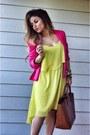 Orange-color-block-rue21-heels-yellow-asymmetrical-forever-21-dress