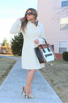 off white vintage coat - off white Celine bag - brown dior sunglasses