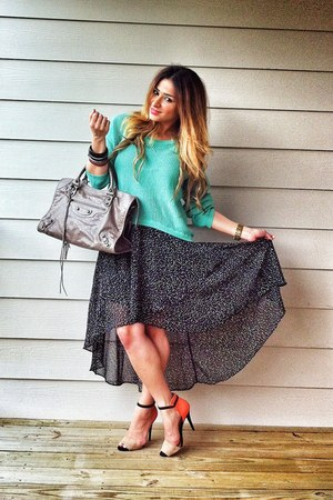 lime green mint pastel Forever 21 sweater