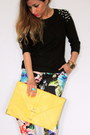 Forever-21-sweater-asos-bag-floral-print-h-m-pants-neon-zara-heels