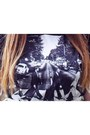 Black-beatles-primark-t-shirt-white-thrifted-skirt