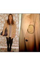 beige jaeger blazer - white Lee shirt - black Topshop shoes - purple Ri2K purse