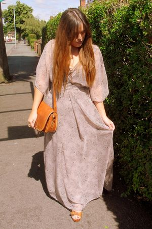 brown Topshop shoes - purple Primark dress