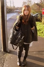 Gray-oasis-coat-black-topshop-pants-black-zara-accessories