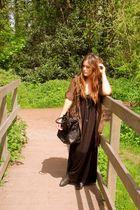 black dress - black Zara purse