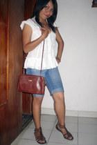 blouse - sandals - necklace