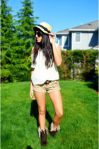 sun hat Forever 21 hat - furry lace-up wwwforever21com boots