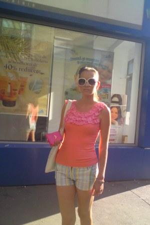 white white Italy bag - white aboriginal shorts - white white dior sunglasses